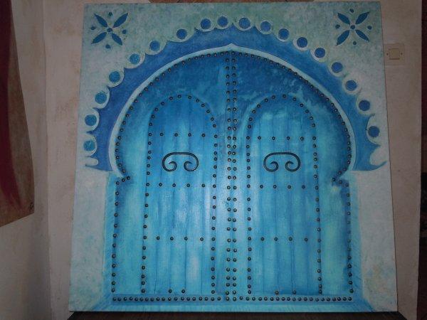 porte marocaine avec ses clous tableau pour le concour du salon du printemps blog de. Black Bedroom Furniture Sets. Home Design Ideas
